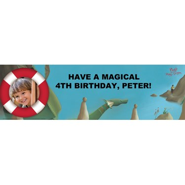 Puff, the Magic Dragon Personalized Photo Banner