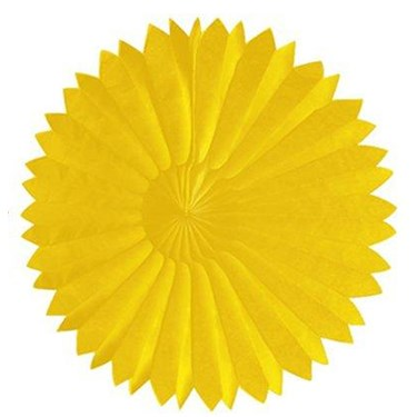 "Yellow 10"" Paper Tissue Fan"