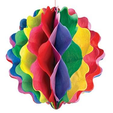 "8"" Rainbow Paper Honeycomb Ball"