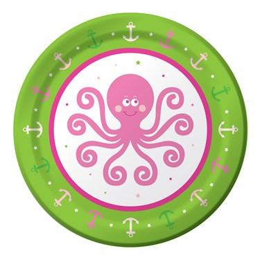 Ocean Preppy Girl Dessert Plates