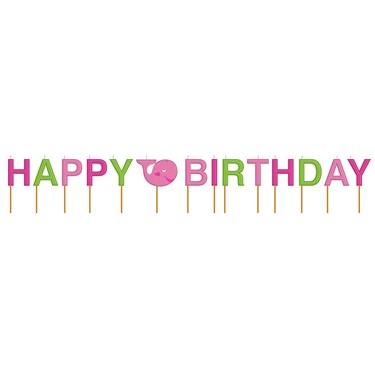 Ocean Preppy Girl Happy Birthday Candles