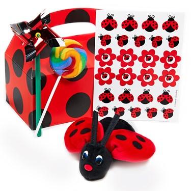LadyBug Fancy Filled Party Favor Box
