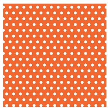 Orange with Polka Dots Jumbo Gift Wrap