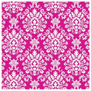 Bright Pink Brocade Jumbo Gift Wrap