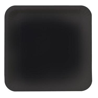 Black Velvet (Black) Square Dessert Plates