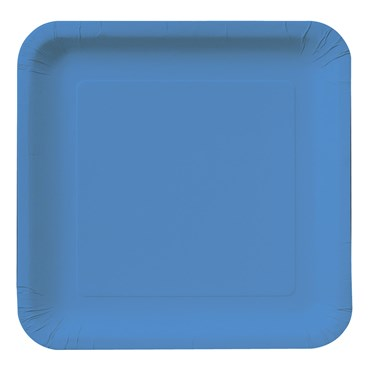 True Blue (Blue) Square Dessert Plates