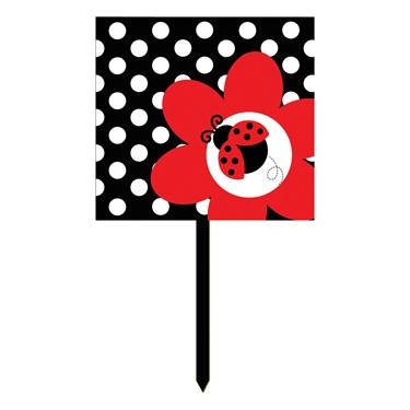 LadyBug Fancy Yard Sign