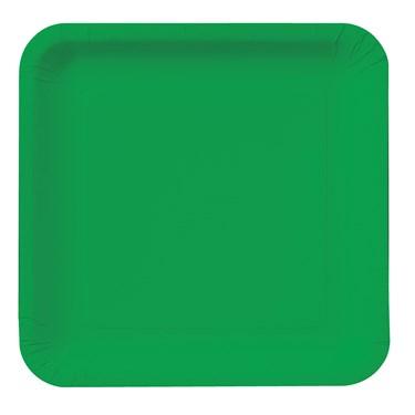 Emerald Green (Green) Square Dessert Plates