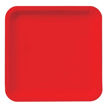 Classic Red (Red) Square Dessert Plates