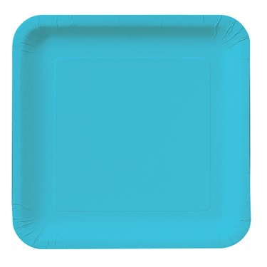 Bermuda Blue (Turquoise) Square Dessert Plates