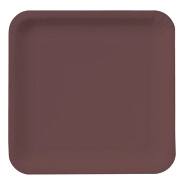 Chocolate Brown (Brown) Square Dinner Plates