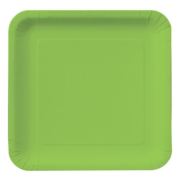 Fresh Lime (Lime Green) Square Dinner Plates