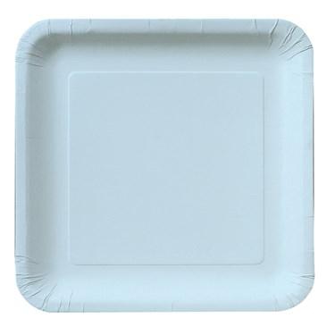 Pastel Blue (Light Blue) Square Dinner Plates