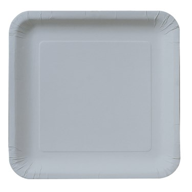Shimmering Silver (Silver) Square Dinner Plates