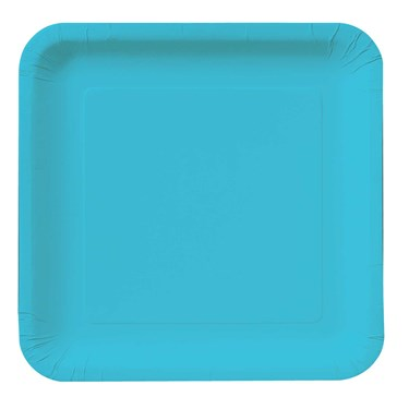 Bermuda Blue (Turquoise) Square Dinner Plates