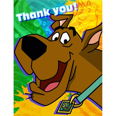 Scooby-Doo Mod Mystery Thank-You Notes