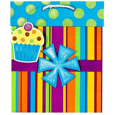 Birthday Present Medium Gift Bag