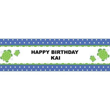 Mr. Turtle Personalized Banner