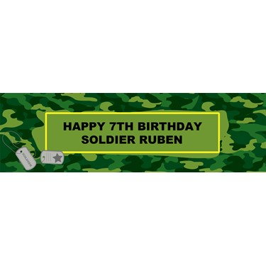 Camo Gear Personalized Banner
