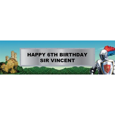 Knight Personalized Vinyl Banner