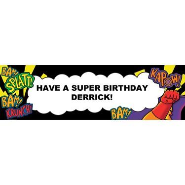 Super Hero Fun Personalized Banner