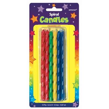 Tall Spiral Candles