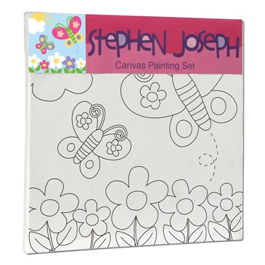 Stephen Joseph Butterfly Craft Canvas Paint Set