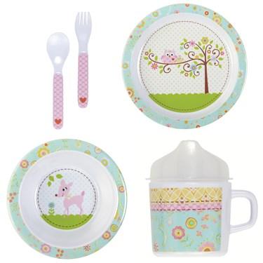 Happy Baby Girl Melamine Dinnerware Set