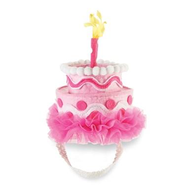 Pink Felt Cake Headband