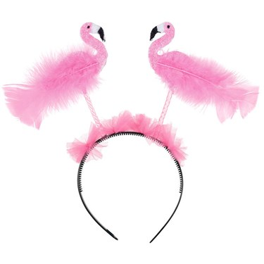 Glitter Flamingo Luau Head Bopper
