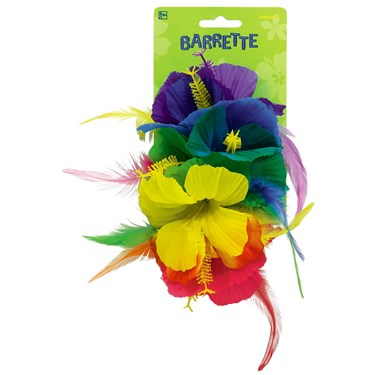 Luau Rainbow Deluxe Barrette