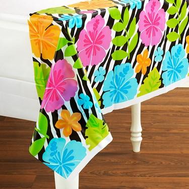 Wild Isle Luau Plastic Tablecover