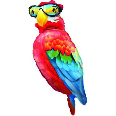 Cool Parrot Luau Jumbo Foil Balloon