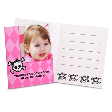 Lil' Angel 1st Birthday Personalized Thank-You Notes