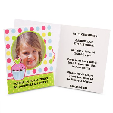 Sweet Treats Personalized Invitations