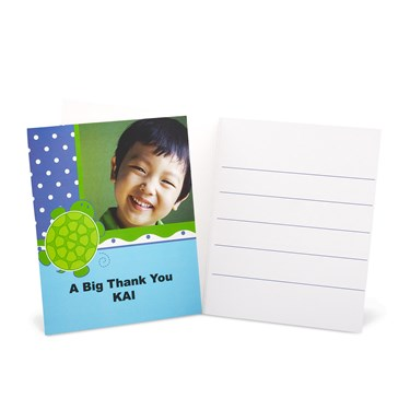 Mr. Turtle Personalized Thank-You Notes