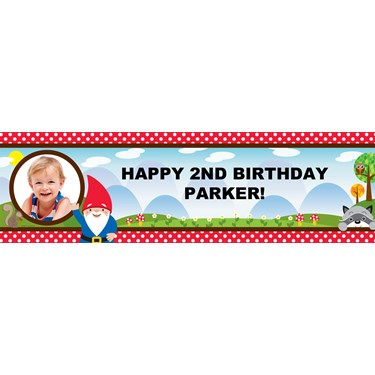 Woodland Gnome Personalized Photo Banner