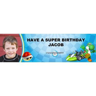 Mario Kart Wii - Yoshi Personalized Photo Banner