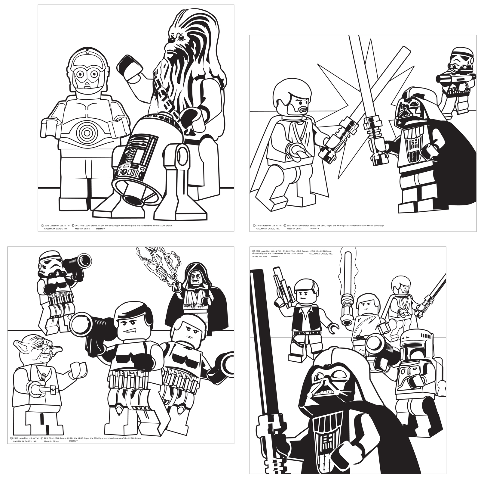 Coloring pages lego star wars - Lego Star Wars Coloring Sheets Free Printable Pages 600x859 Lego
