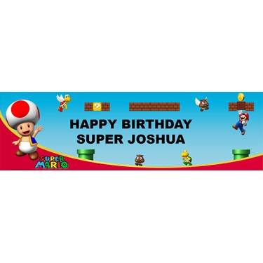 Super Mario Bros. - Toad Personalized Vinyl Banner
