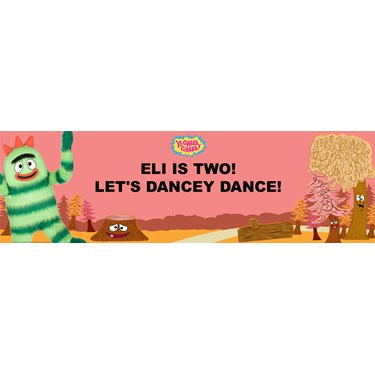 Yo Gabba Gabba! - Brobee Personalized Birthday Banner