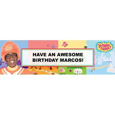 Yo Gabba Gabba! - DJ Lance Personalized Birthday Banner
