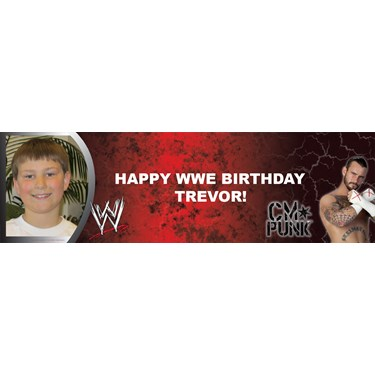 WWE - CM Punk Personalized Photo Banner