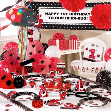 LadyBug Fancy 1st Birthday Ultimate Party Pack