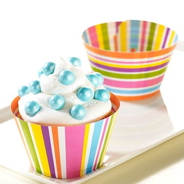 Bright Stripes Reversible Cupcake Wrappers
