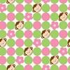Pink Mod Monkey Jumbo Gift Wrap