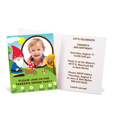 Woodland Gnome Personalized Invitations