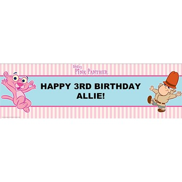 Baby Pink Panther Personalized Banner