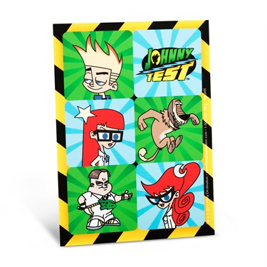 Johnny Test Sticker Sheets