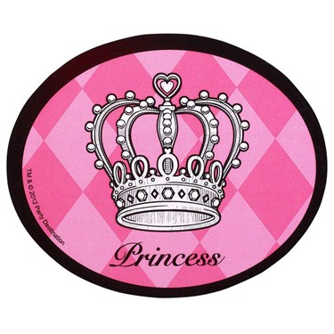 Elegant Princess Damask Stickers